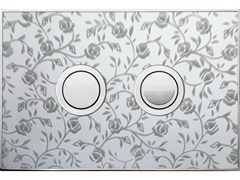 Placca di comando per wc FANTASY ROSE LUCIDA - Design