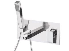 Miscelatore per vasca a muro in ottone cromato con doccetta SKYLINE | Miscelatore per vasca - Skyline