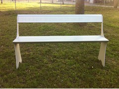 ALUSCALAE, PROEDRIA Panchina reclinabile in alluminio con schienale