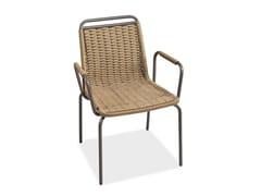 Sedia da giardino con braccioli PORTOFINO | Sedia con braccioli - Portofino