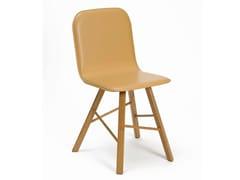 Sedia imbottita in cuoio TRIA SIMPLE | Sedia in cuoio - Tria