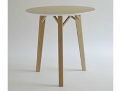 Tavolo rotondo in legno impiallacciato TRIA | Tavolo rotondo - Tria