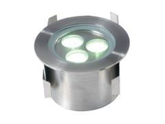 Segnapasso a LED a pavimento in acciaio inoxAQUA 3 - TEKNI-LED