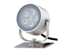 Proiettore per esterno a LED orientabile in acciaio inoxSHARK 6 - TEKNI-LED