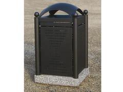 Portarifiuti in acciaio con coperchio per esterni OLD-STREET -