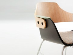 Sedia a slitta imbottita con braccioli SHOWTIME | Sedia con braccioli - Showtime