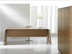 Scrivania direzionale rettangolare in legno impiallacciato SESTANTE | Scrivania - Sestante