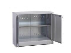 Mobile ufficio basso con ante a battente con serraturaZTP804080 | Mobile ufficio - CASTELLANI.IT