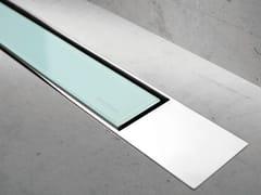 Scarico per doccia in vetro MODULO DESIGN Z-2 VETRO VERDE + LUCIDO - Modulo Design