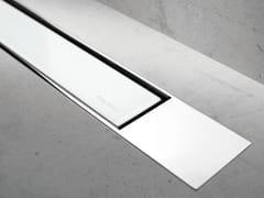 Scarico per doccia in vetro MODULO DESIGN Z-2 VETRO BIANCO + LUCIDO - Modulo Design
