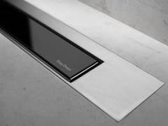Scarico per doccia in metallo MODULO DESIGN Z-3 VETRO NERO + SATINATO - Modulo Design