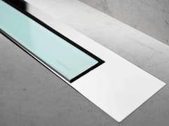 Scarico per doccia in vetro MODULO DESIGN Z-3 VETRO VERDE + LUCIDO - Modulo Design