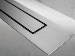 Scarico per doccia in acciaio MODULO DESIGN Z-4 SATINATO + SATINATO - Modulo Design
