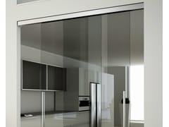 Kit per porta scorrevole in metallo Invisibile doppio a vista V-7200 - Invisibile