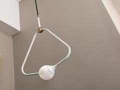 Lampada a sospensione a luce diretta alogena MEDAL WHITE -