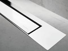 Scarico per doccia MODULO DESIGN Z-3 VETRO BIANCO + LUCIDO - Modulo Design