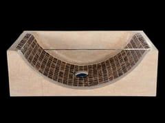 Lavabo da appoggio rettangolare in pietra naturale e cocco BORA BORA | Lavabo da appoggio - Ciotole e lavabi
