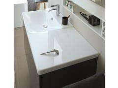 Lavabo rettangolare singolo in stile moderno con piano P3 COMFORTS | Lavabo con piano - P3 Comforts