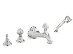 Set vasca a 5 fori in ottone cromato con doccetta 230416.B050.50 | Set vasca - Versailles
