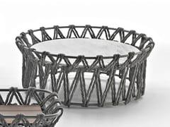 Tavolino rettangolare in marmo e fibre di polietilene BUTTERFLY | Tavolino rotondo - Butterfly
