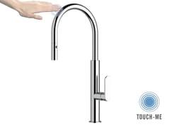 Miscelatore cucina con bocca girevole e doccetta estraibile NKT 73 | Miscelatore da cucina elettronico - Touch-Me