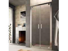 Box doccia a nicchia in vetro con porta a battente SLINTA SJ - Showering
