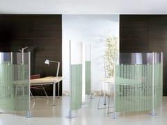 Pannello divisorio free standing modulare in PVC SLALOM | Pannello divisorio in PVC - PARTITION SYSTEM