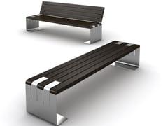LAB23, INCONTRO Panchina in legno e acciaio