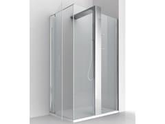 RELAX, KUBIK PLUS W+P Box doccia angolare in cristallo con colonna