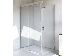 RELAX, MYRES SC1 + F Box doccia angolare in alluminio e vetro con porta scorrevole