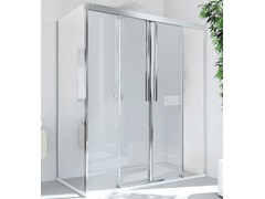 RELAX, MYRES SC2 + F Box doccia angolare in alluminio e vetro con porta scorrevole