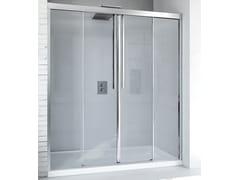 RELAX, MYRES SC2 Box doccia a nicchia in alluminio e vetro con porta scorrevole