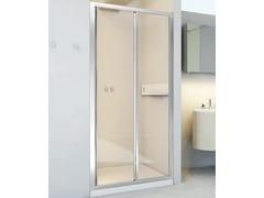RELAX, NEW LYRA SC1 Box doccia a nicchia in alluminio e vetro con porta scorrevole