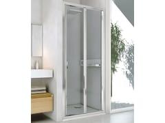 RELAX, NEW LYRA PS Box doccia a nicchia in alluminio e vetro con porta a soffietto