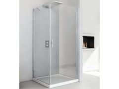RELAX, LIGHT AB + F3 Box doccia angolare in cristallo con porta a battente
