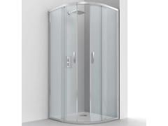 RELAX, EVOLUTION R2-S Box doccia semicircolare in alluminio e vetro con porta scorrevole