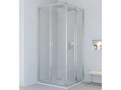 RELAX, NEW LYRA A Box doccia angolare in alluminio e vetro con porta scorrevole