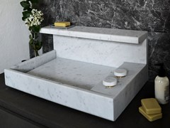 Lavabo da appoggio rettangolare in marmo di CarraraJP | Lavabo in marmo di Carrara - MG12