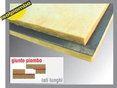 Feltro e pannello fonoisolante e fonoassorbente con lamine di piombo PIOMBOVER - ISOLPIOMBO
