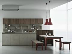 Cucina in resina di cemento con isola LINE K | Cucina con isola - Line K
