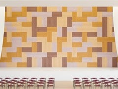 Pannelli decorativi acustici in cemento-legnoBAUX ACOUSTIC PANEL LINES - BAUX