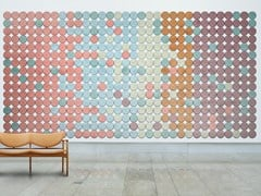 BAUX, BAUX ACOUSTIC TILES CIRCLE Pannelli decorativi acustici in cemento-legno