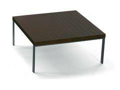 Tavolino quadrato in wengè GEOMETRIE | Tavolino quadrato - LA COLLEZIONE - Tavoli e sedie
