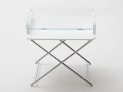 Tavolino rettangolare in vetro e MDFAIR COSIMO - ADENTRO