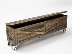 Cassapanca in legno di recupero con ruoteKRATE | Cassapanca con ruote - KARPENTER