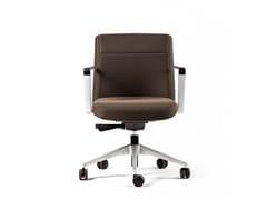 Sedia ufficio operativa ad altezza regolabile a 5 razze con ruote CRON | Sedia ufficio operativa con ruote -