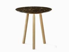 Tavolino da caffè rotondo in marmoNINNA | Tavolino rotondo - ADENTRO