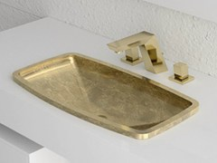 Lavabo da incasso soprapiano in Vetro Freddo®KOSTA 2 - GLASS DESIGN