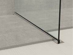 PROFILPAS, GLASS PROFILE GPS1 Bordo in acciaio inox per pavimenti