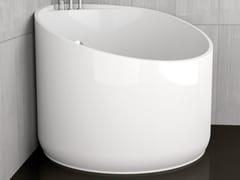 Vasca Da Bagno White : Vasca da bagno angolare rotonda mini white glass design